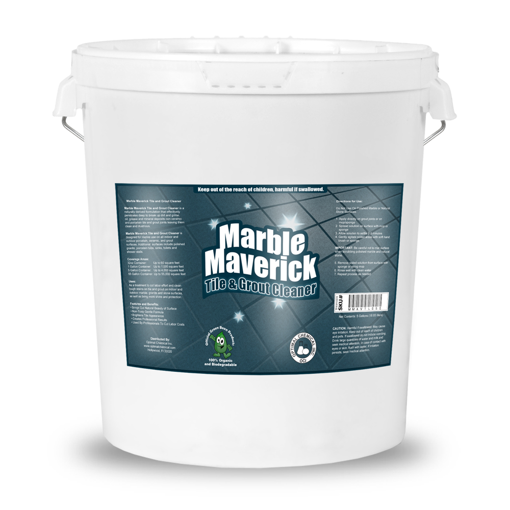 Marble maverick organic tile and grout cleaner 5 gallon for Grout cleaner