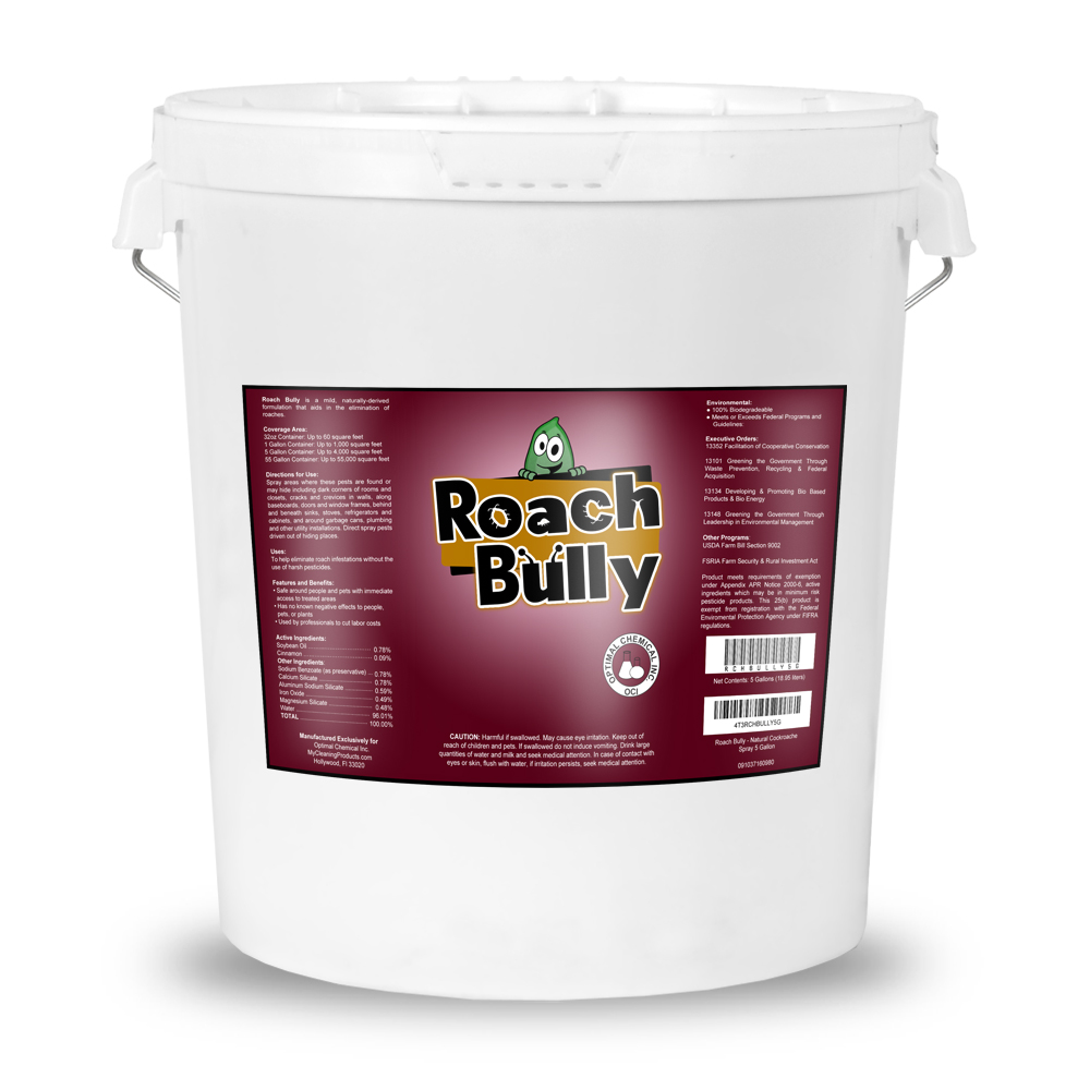 Roach Bully Natural Cockroach Spray 5 Gallon