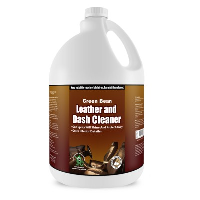 Leather and Dash Cleaner - Green Leather Conditioner, 1 Gallon