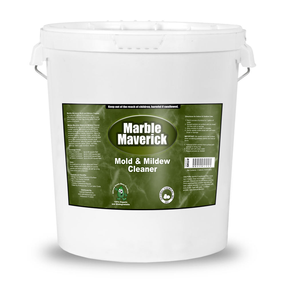 Marble Maverick Non Toxic Mold And Mildew Cleaner 5 Gallon