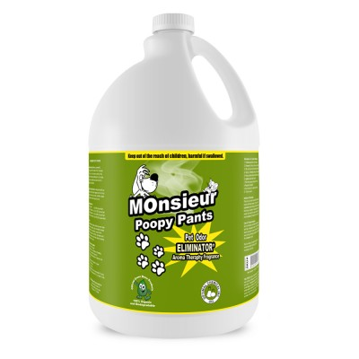 Monsieur Poopy Pants Natural Pet Odor Remover, 1 Gallon
