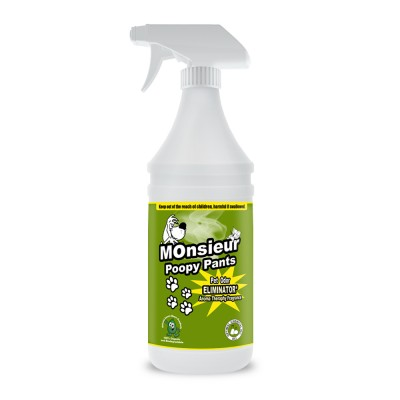 Monsieur Poopy Pants Natural Pet Odor Remover, 32 Oz