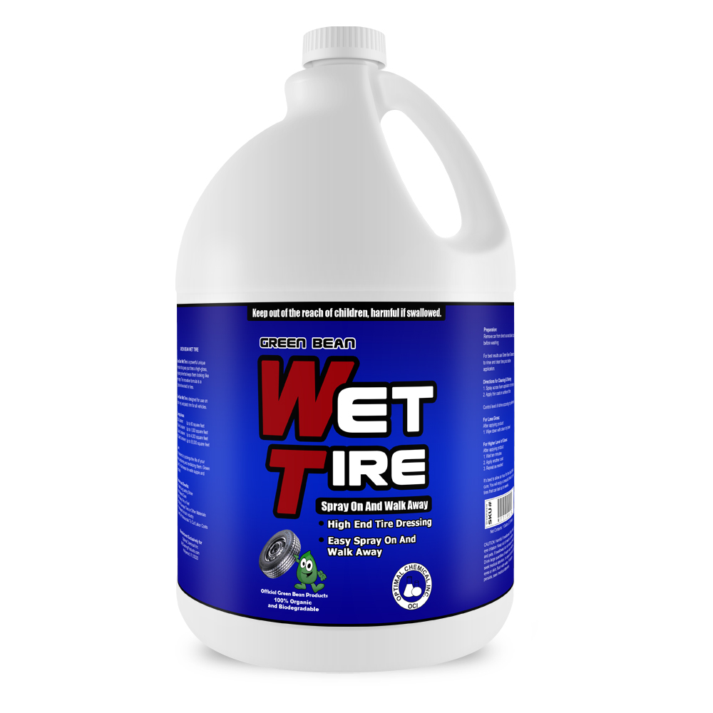 Green Bean Wet TIre Non-Toxic Tire Shine and Gloss, 1 Gallon