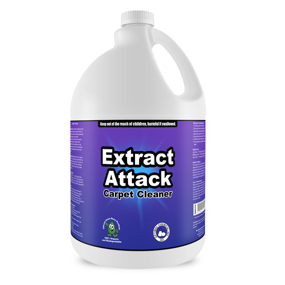 Extract Attack Organic Carpet Cleaner, 1 Gallon